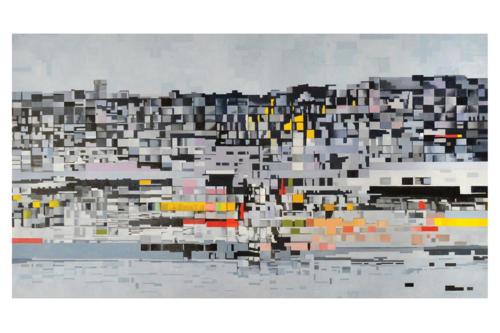 Perturbazione  16 -   2018 olio su tela cm. 60 x 110