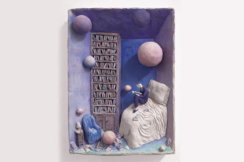 Pensierini - 2015 terracotta policroma cm. 50x20x7