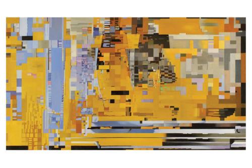 Perturbazione  12 -   2017-2018 olio su tela cm. 60 x 110