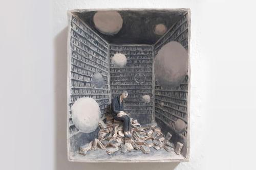 Custode - 2015 terracotta policroma cm. 18x23x5