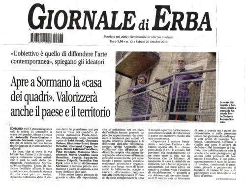 Giornale Erba - 26 ottobre 2019