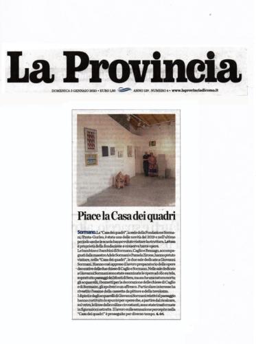 La Provincia 5.1.2020  Piace-la-casa-dei-quadri